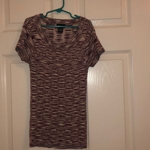 Rue21 maroon fitted ribbed tee small